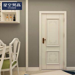 油漆平面纹理木门-圣基茨维