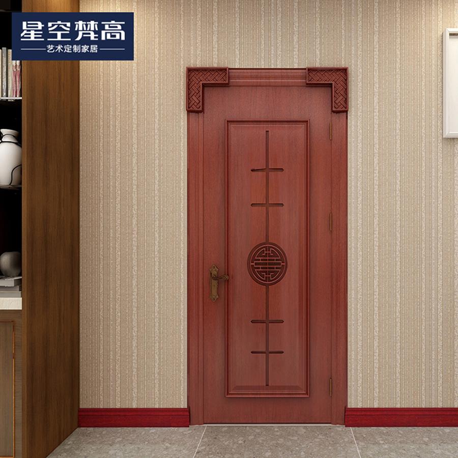 简单油漆压线木门-锦绣之家