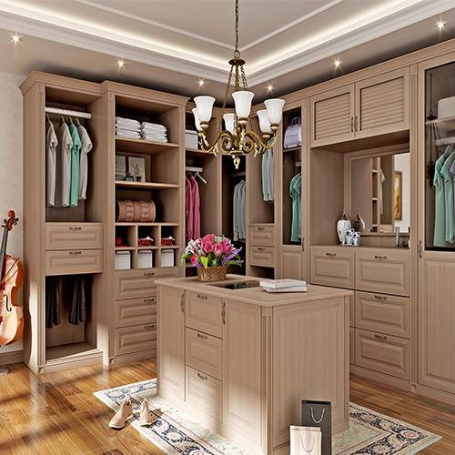 英式银衫木衣柜