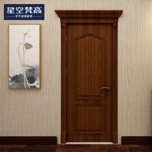 油漆平面纹理木门-富贵人家