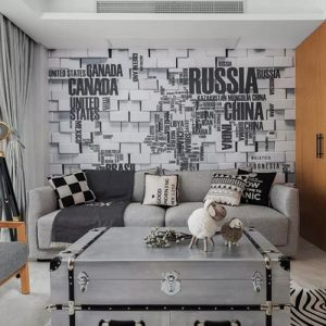 小户型北欧风格全屋定制-原木色和黑白灰的完美融合