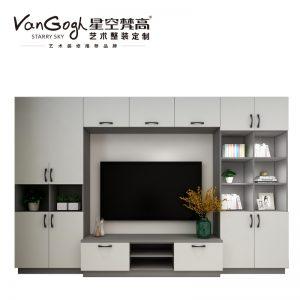 整体定制电视柜 梅尔海辛·羊脂白电视柜
