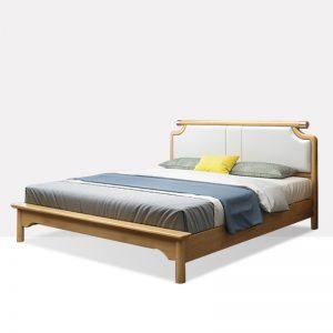 现代简约双人床实木床 雅兰轻奢 c915#软包床