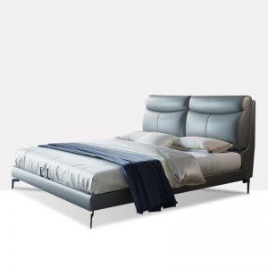 轻奢风格 头层真皮软床 繁花彼岸 YP608