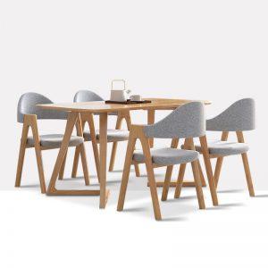 星空梵高 现代简约 实木餐桌餐椅 幸福食刻 T532餐桌